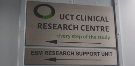 Clinical Research Centre Welcome Sign